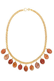 Fred Leighton 1870s 14-karat gold garnet necklace