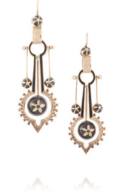 1880s 14-karat gold enamel earrings