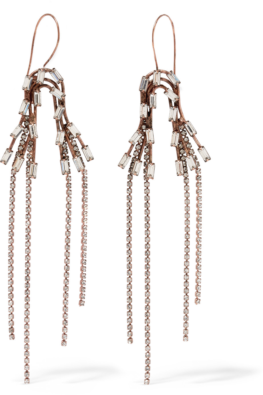 Erickson Beamon Rose Gold-Plated Swarovski Crystal Earrings, Rose Gold/Metallic, Women's