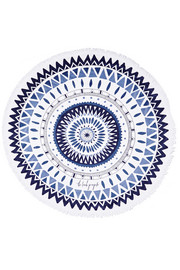 The Majorelle round woven cotton-terry towel