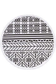 The Aztec round woven cotton-terry towel