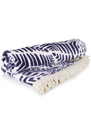 The Paradis round printed cotton-terry towel