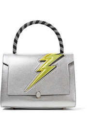 Anya Hindmarch Bathurst small metallic textured-leather tote