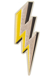 Anya Hindmarch Lightening Bolt metallic textured-leather sticker