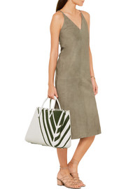 Anya Hindmarch Ebury Maxi striped woven leather tote