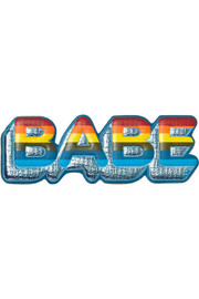 Babe metallic textured-leather sticker