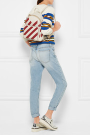 Anya Hindmarch Mini striped woven leather backpack