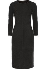 Ekundayo stretch ponte-paneled suede dress