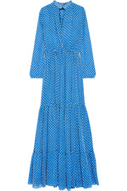 Alexia Swiss-dot chiffon maxi dress
