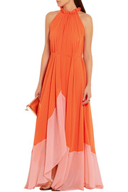 Iris crinkled-georgette halterneck maxi dress