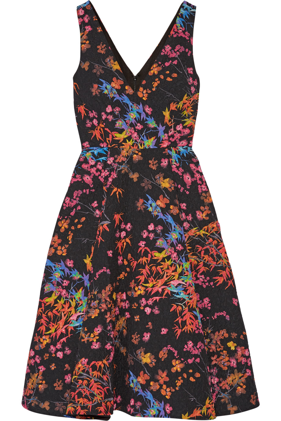 Saloni Jess Printed Cloqué Dress, Black, Women's - Printed, Size: 4