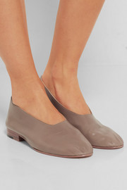 Glove leather pumps