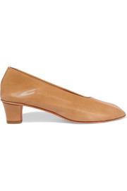 High Glove leather pumps