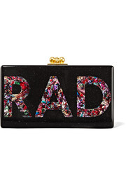 Jean Rad glittered acrylic box clutch
