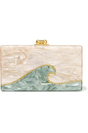 Jean Tidal Wave acrylic box clutch