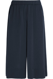 Washed-satin culottes