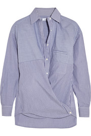 Vince Striped cotton-poplin shirt