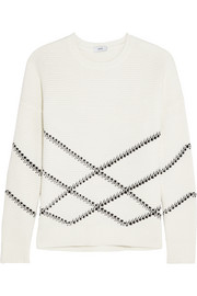 Vince Intarsia cotton-blend sweater