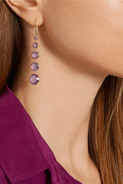 Rock Candy Lollitini 18-karat gold amethyst earrings
