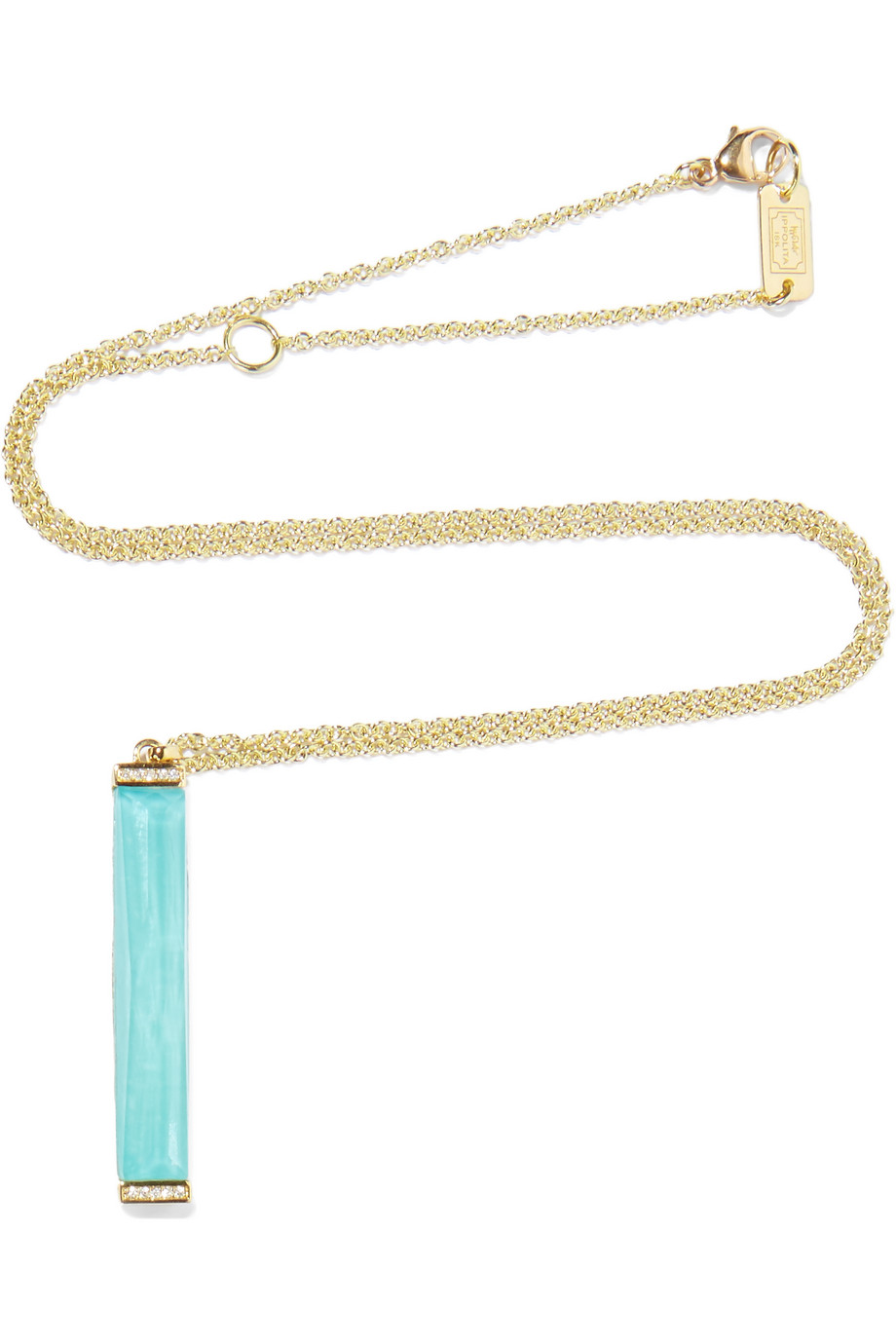 Ippolita Rock Candy 18-Karat Gold, Turquoise and Diamond Necklace, Gold/Turquoise, Women's