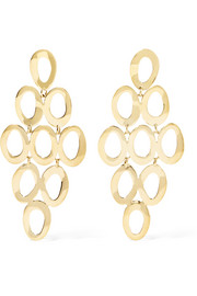 Glamazon® Cascade 18-karat gold earrings