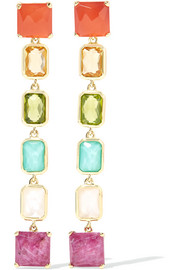 Rock Candy® Linear 18-karat gold multi-stone earrings