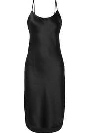 Maiyet Arc hammered silk-satin dress
