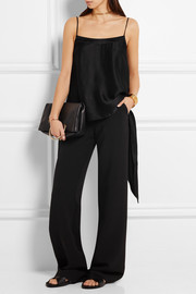 Maiyet Draped hammered silk-satin top