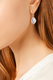 Siren Teardrop rose gold-plated agate earrings