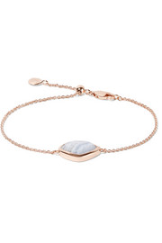 Monica Vinader Siren Teardrop rose gold-plated agate bracelet