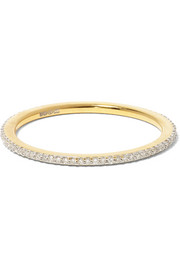 Skinny gold-plated diamond ring