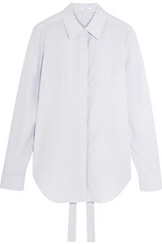 TOME Open-back striped cotton-poplin shirt