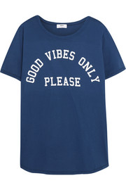 Good Vibes printed cotton-jersey T-shirt