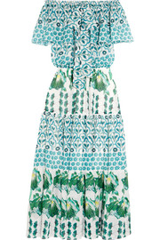 Florrie printed chiffon midi dress