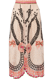 Temperley London Belle embroidered tulle skirt