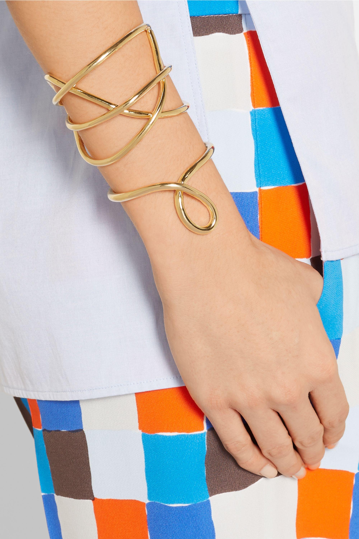 Jennifer Fisher Large Loop gold-plated cuff