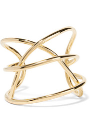 Abstract Line gold-plated cuff