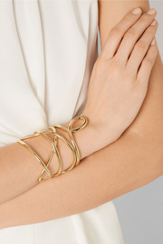 Jennifer Fisher Abstract Line gold-plated cuff