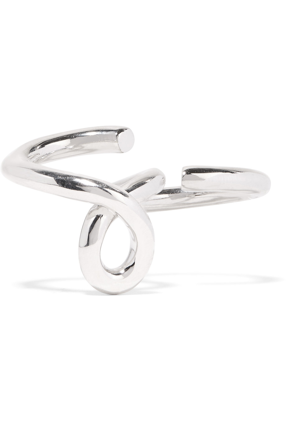 Jennifer Fisher Double Finger Loop Silver-Plated Ring, Women's