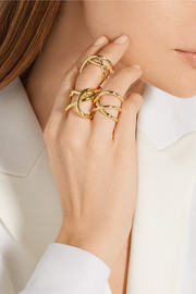 Jennifer Fisher Large Abstract Line gold-plated ring