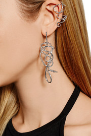 Large Chaos silver-plated earring