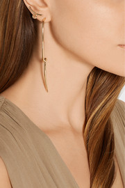 Jennifer Fisher Curved Loop gold-plated earrings