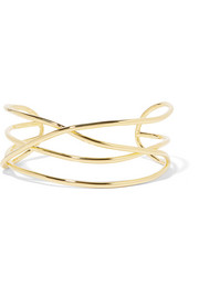 Abstract Line gold-plated choker