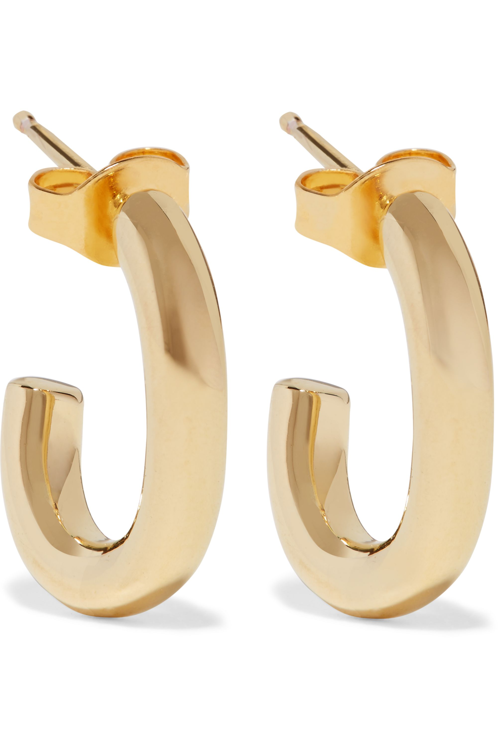 Jennifer Fisher Chain Link gold-plated hoop earrings