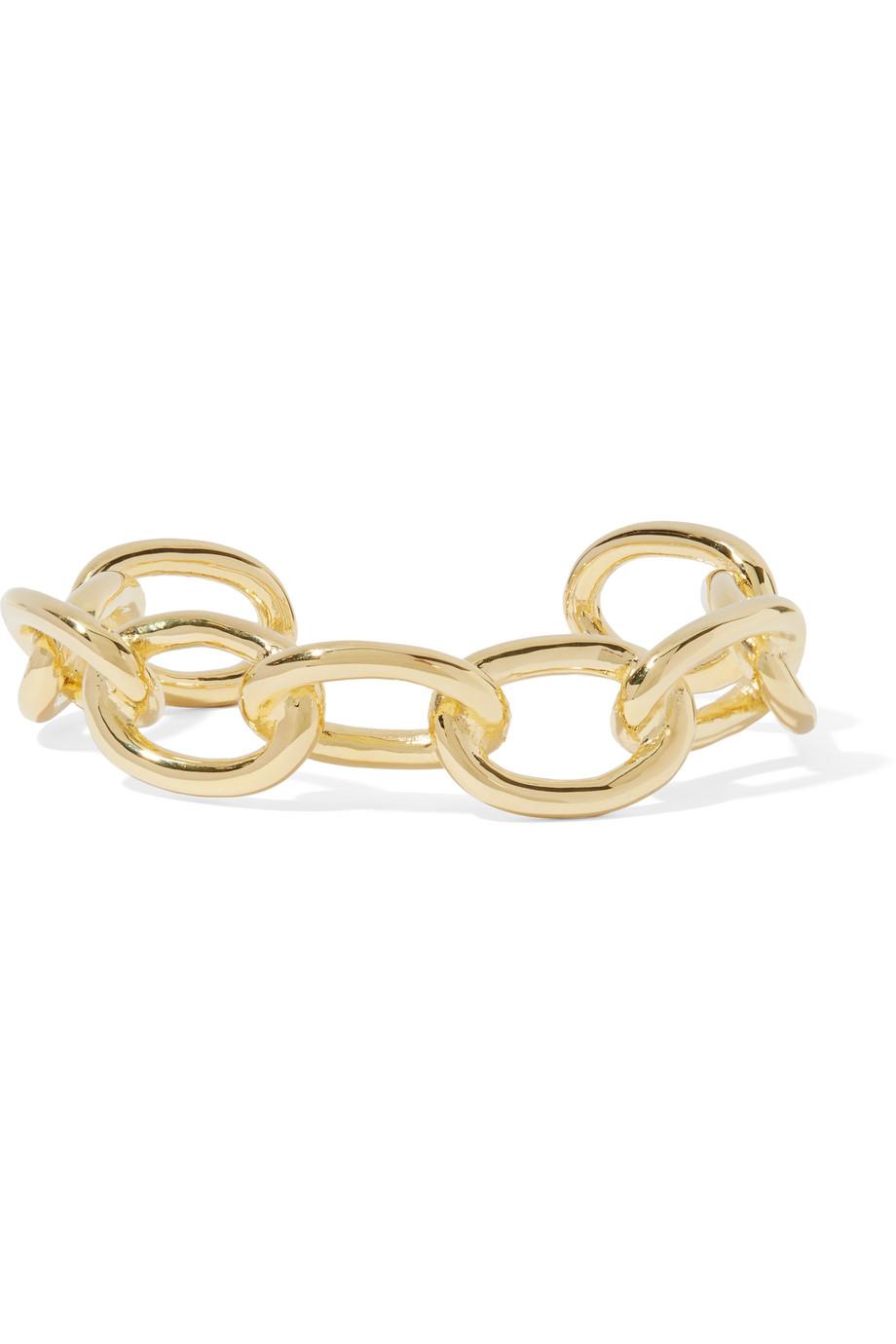 Jennifer Fisher Small Chain Link Gold-Plated Cuff, Women's