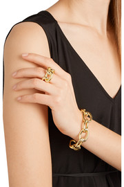 Small Chain Link gold-plated cuff
