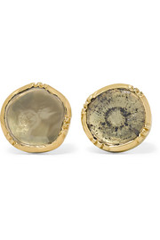 Orbit 18-karat gold diamond earrings