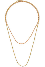 Set of two 18-karat gold necklaces