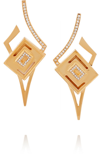 Kilian - Lights & Reflections Gold-plated Swarovski Crystal Earrings
