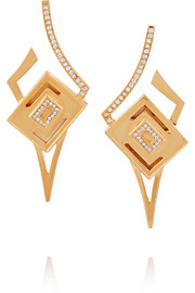 Kilian Lights & Reflections gold-plated Swarovski crystal earrings